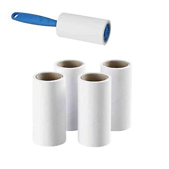 Lint Roller With 4 Refills | Quickly Removes Animal Hairs Dust and Fluff from Garments Furniture Car Seats