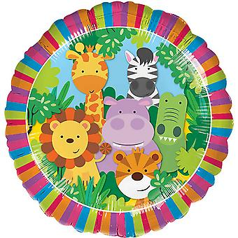 Anagram 18in Jungle Friends Circle Foil Balloon