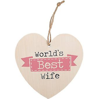 Something Different World's Best Wife Hanging Heart Sign