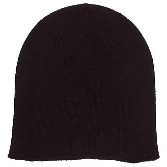 Johnstons of Elgin Jersey Roll Trim Hat - Black