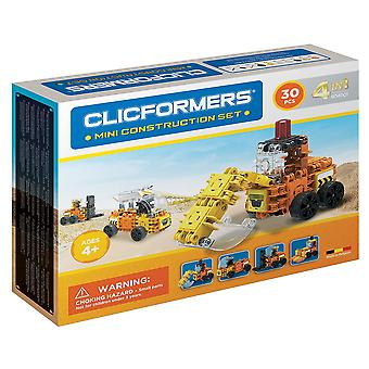Clicformers Mini Construction Set 4 in1 Vehicles 30 PCS Construction Toy
