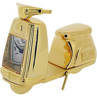 Gift Time Products Scooter Miniature Clock - Gold