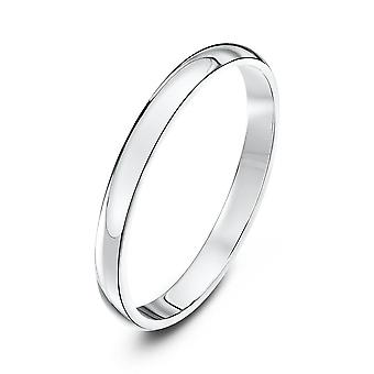 Star Wedding Rings 18ct White Gold Heavy D 2mm Wedding Ring