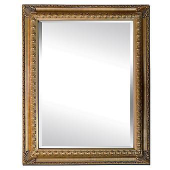 Spegel i guld, yttermått 73x103 cm