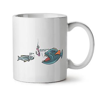 Fish Cheat Day NEW White Tea Coffee Ceramic Mug 11 oz | Wellcoda