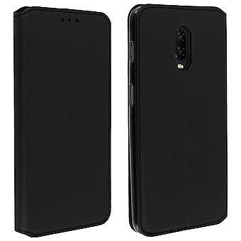 Slim Classic Edition stand case with card slot for OnePlus 6T - Black