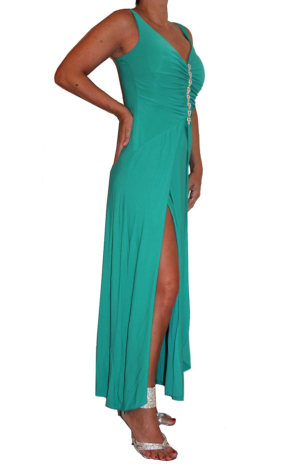 Waooh - slit evening dress and rhinestone Wilmine
