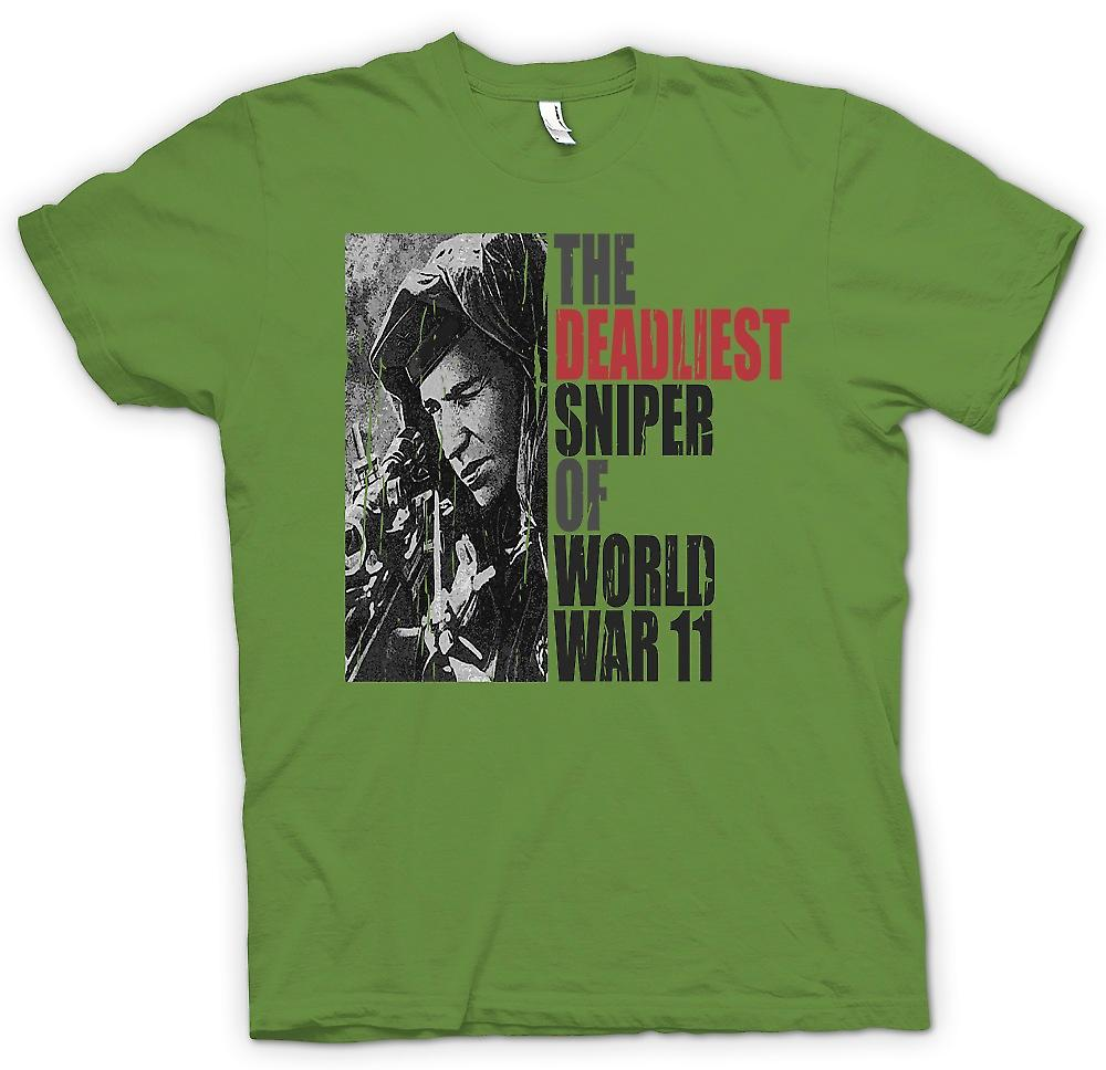 Mens T-shirt - The Deadliest Sniper Of World War 2