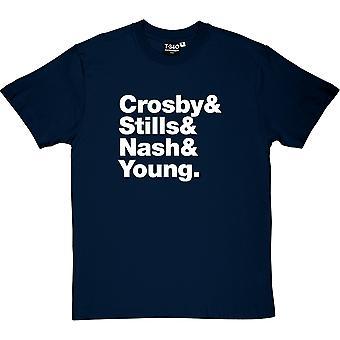 Crosby, Stills, Nash und junge Line-Up Männer T-Shirt