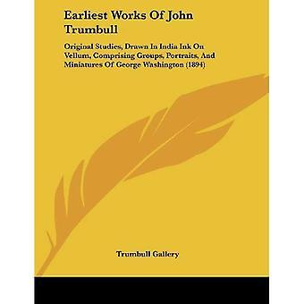 Earliest Works of John Trumbull: Original Studies, Drawn in India Ink on Vellum, Comprising Groups, Portraits,...