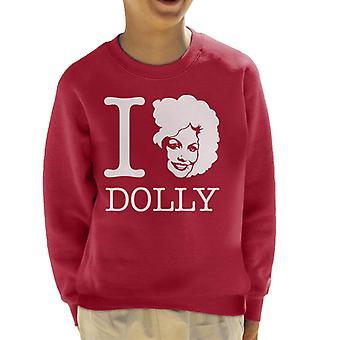 Ich liebe Dolly Parton weiße Kinder Sweatshirt