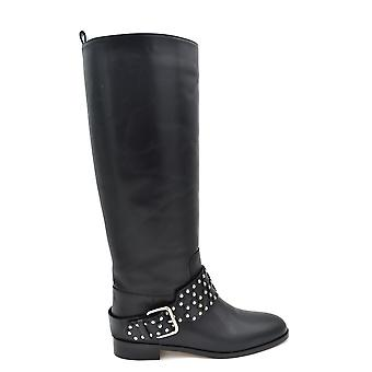 Red Valentino Black Leather Boots