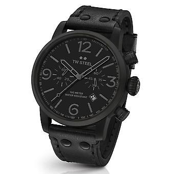 Tw Steel Ms114 Maverick All Black Chronograaf Horloge 48mm