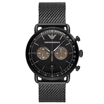 Armani Watches Ar11142 Black Ion Plated Men's Chronograph Watch
