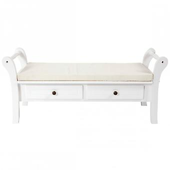 Rebecca Bench Furniture Bench White 2 drawers classic style lounge entrance