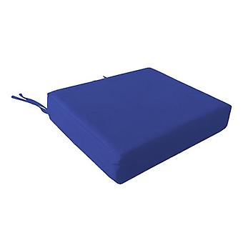 Foam Wheelchair Seat Cushion in Cotton Cover - Blue