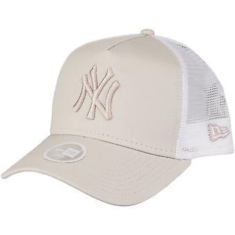 New Era Damen Trucker Cap - New York Yankees stone beige