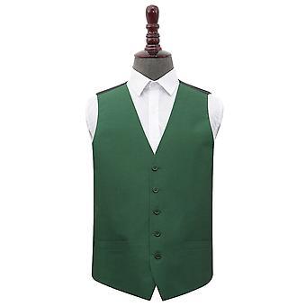 Chaleco de boda Emerald Green Shantung