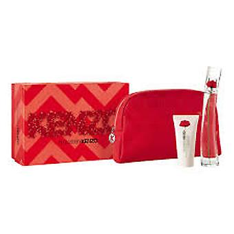Kenzo bloem Eau de Lumiere gift set 50ml EDT + 50ml body lotion + etui