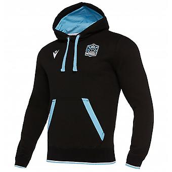 2019-2020 Glasgow Warriors Rugby Travel Heavy Cotton Hoody (Black)