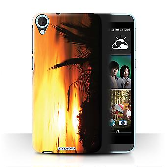 STUFF4 Case/Cover voor HTC Desire 820q Dual/Tree Tops/zonsondergang decor