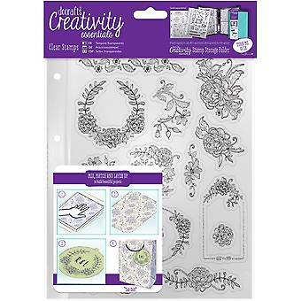 Creativiteit Essentials A5 Clear Stamps-Floral pictogrammen CE907123