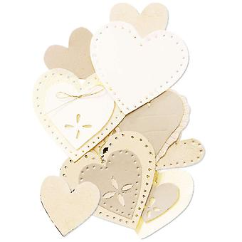 Jolee's By You Dimensional Embellishment Gold Heart Jj B 56261