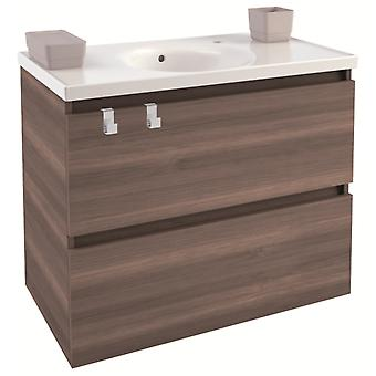 Bath+ Cabinet 2 drawers with porcelain sink Fresno 80CM