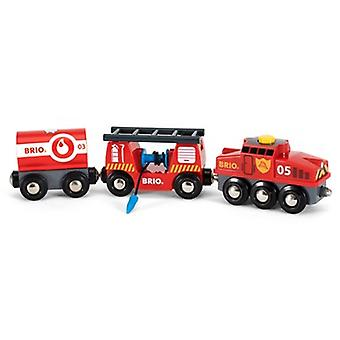 BRIO Rescue Fire Train 33844