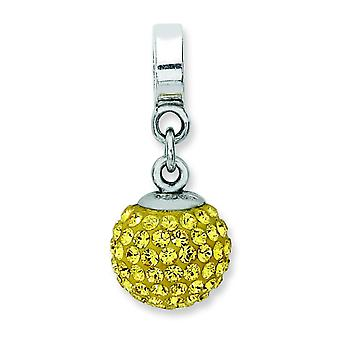 Breloque en argent sterling réflexions Nov Swarovski Element Ball Dangle perle