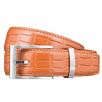 Pioneer belts men's belts leather belt Orange 3414