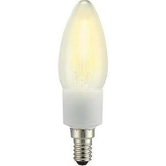 LED E14 Candle 4.5 W = 40 W Warm white (Ø x L) 35 mm x 117 mm EEC: A++ Sygonix Filament, dimmable 1 pc(s)