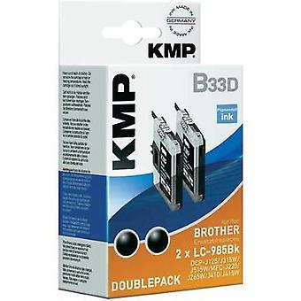 KMP Ink replaced Brother LC-985 Compatible Pack of 2 Black B33D 1523,0021