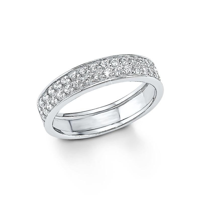 s.Oliver jewel ladies ring silver cubic zirconia SO1129