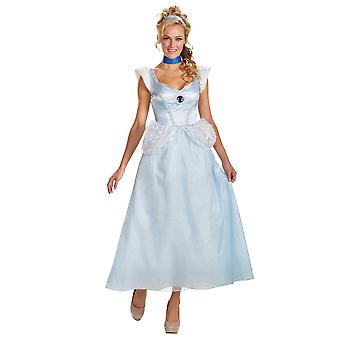 Cinderella Deluxe Classic Disney Princess Ball Story Book Week Women Costume