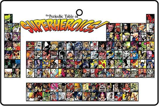 Periodic Table Of Superheroes Car Air Freshener