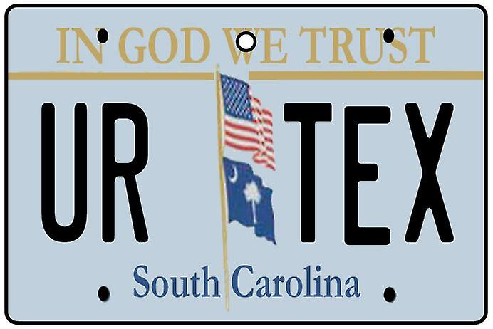 Personalised South Carolina Numberplate Car Air Freshener