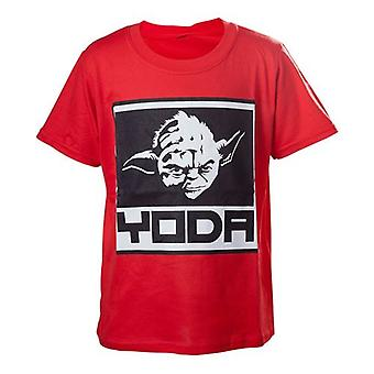 Star Wars Kids Boys Yoda Framed Closeup T-Shirt 110/116 Red TSY19614STW-110/116