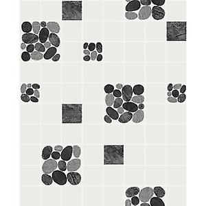Holden Decor Pebble Black Tile Effect Kitchen Bathroom Blown Vinyl Washable