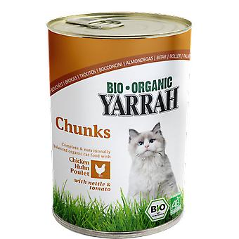 Yarrah Chicken nuggets canned cat 400 g bio (Cats , Cat Food , Wet Food)