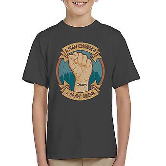 A Man Chooses A Slave Obeys Bioshock Kid's T-Shirt