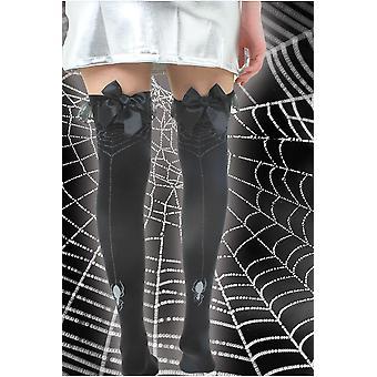Strumpor och ben tillbehör knä strumpor med spider web print