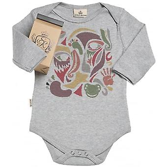 Spoilt Rotten Colour Collage Organic Baby Grow In Milk Carton