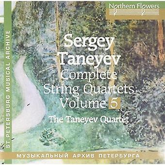 Taneyev String Quartet - Taneyev: Komplet strygekvartetter 5 nr. 2 [CD] USA import