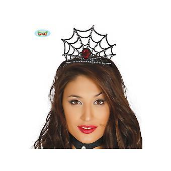 Hair Akcesoria Halloween spider web tiara