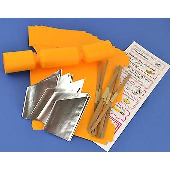 8 MINI Old Gold Make & Fill Your Own Cracker Making Craft Kit