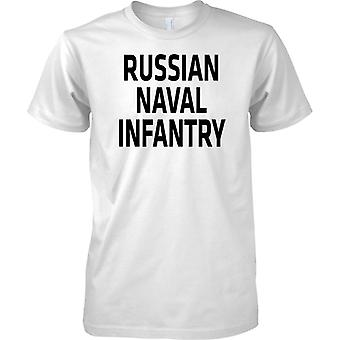 Russian Naval Infantry - Russian Marines - Text - Mens T Shirt
