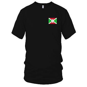 Burundi nasjonale flagg - brodert Logo - 100% bomull t-skjorte Kids T skjorte