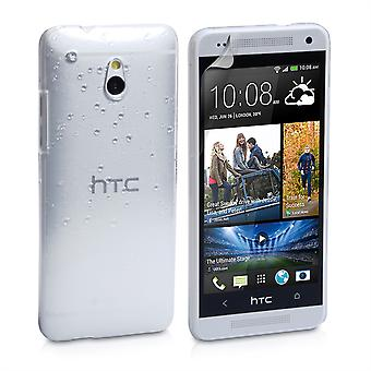 Yousave Accessories HTC One Mini Raindrop Hard Case - White-Clear