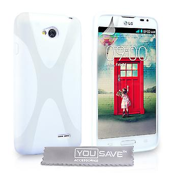 Yousave tillbehör LG L70 Gel X-Line silikonfodral - vit